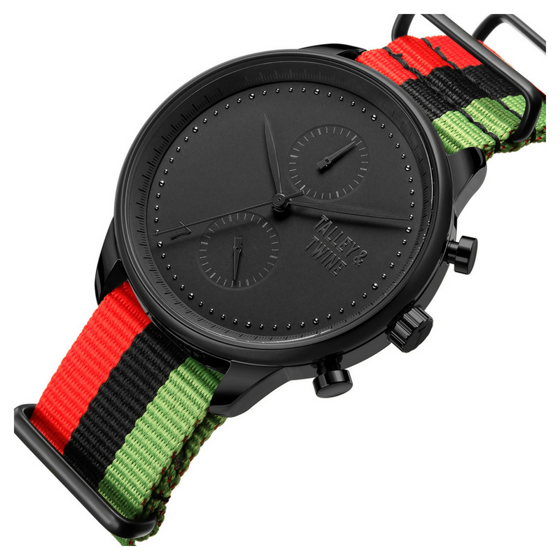 "Worley Chronograph M - ""Juneteenth"" Canvas"