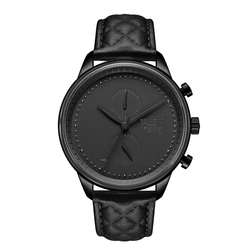 [WOMEN'S 41mm] Black Worley Chronograph - Black Leather