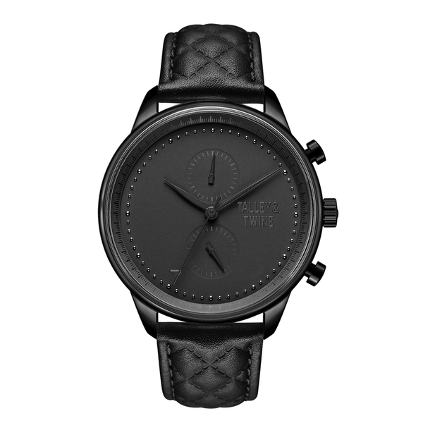 **PRE-ORDER & SAVE! SHIPS BY OCTOBER 15TH** [WOMEN'S 41mm] Black Worley Chronograph - Black Leather