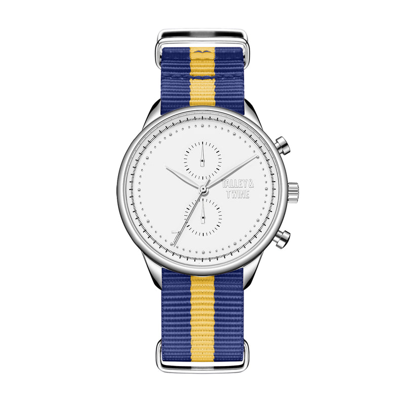 White & Silver - Blue & Gold Canvas Band