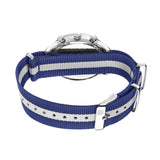 White & Silver - Blue & White Canvas Band