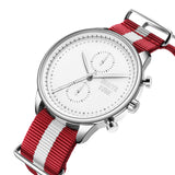 White & Silver - Red & White Canvas Band