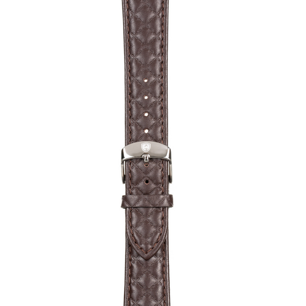 Women's Dark Brown Leather Band w/ Silver Accents