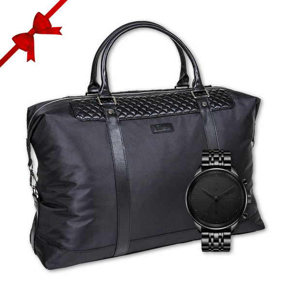 **PRE-ORDER!! SHIPPING BY DECEMBER 11th!!** Black + Black Duffel