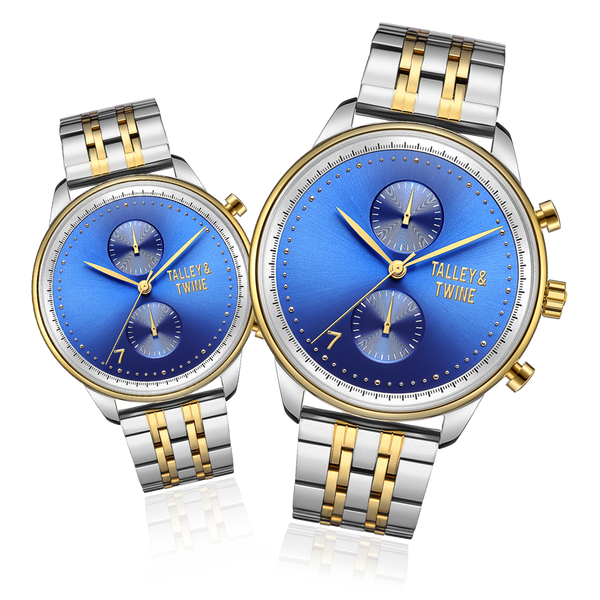 His & Her Gift Set: Blue, Silver & Gold