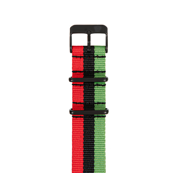 "Red/Black/Green ""Juneteenth"" Canvas Band"