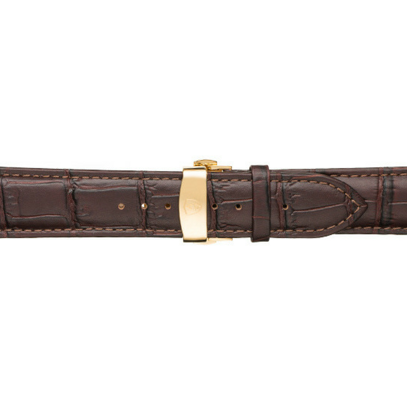 Dark Brown Calfskin Leather Band