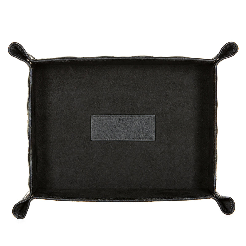 Black Leather Valet Tray