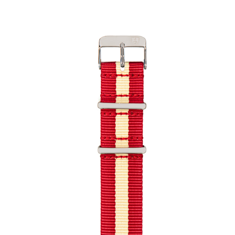 Red & Cream Canvas Band