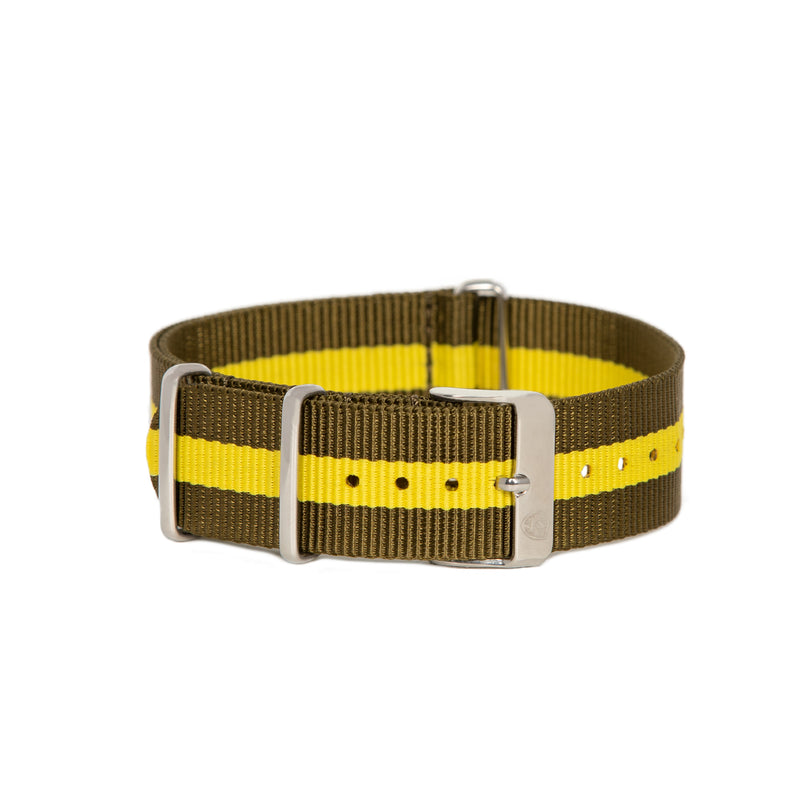 Brown & Gold Canvas Band