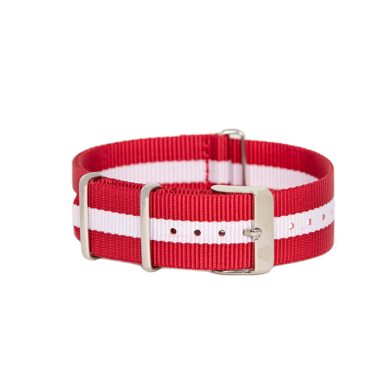 Red & White Canvas Band
