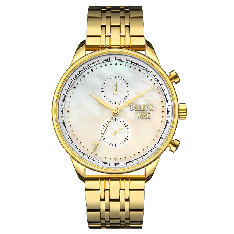 [41mm] Women's Worley Chronograph M - Mother of Pearl & Gold