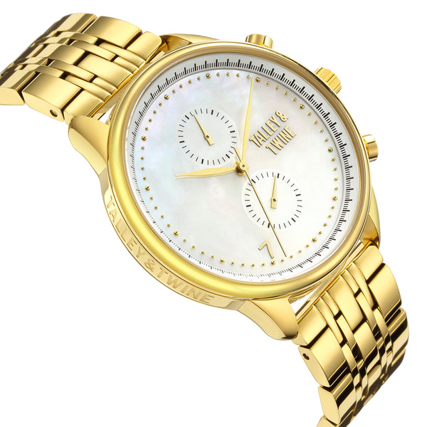 41mm Women's Worley Chronograph M - Mother of Pearl & Gold