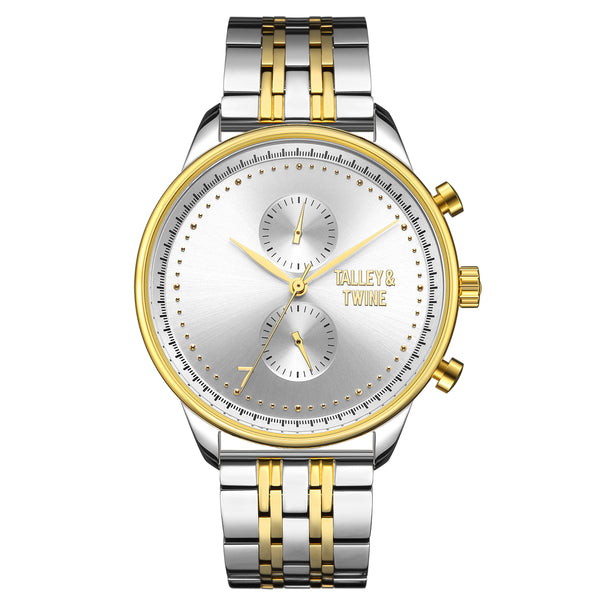 41mm Women's Worley Chronograph M - Silver & Gold