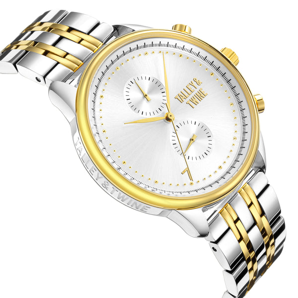 **PRE-ORDER! SHIPPING BY OCTOBER 15TH!** 41mm Women's Worley Chronograph M - Silver & Gold