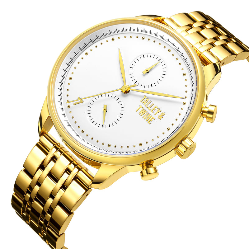 Worley Chronograph M - Champagne & Gold