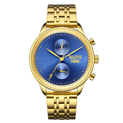 46mm Men's Worley Chronograph M - Gold & Blue