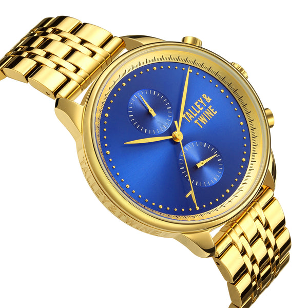 [46mm] Worley Chronograph M - Gold & Blue