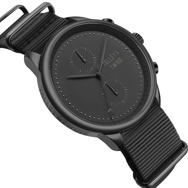 [MEN'S 46mm] Worley Chronograph M -  Black Canvas