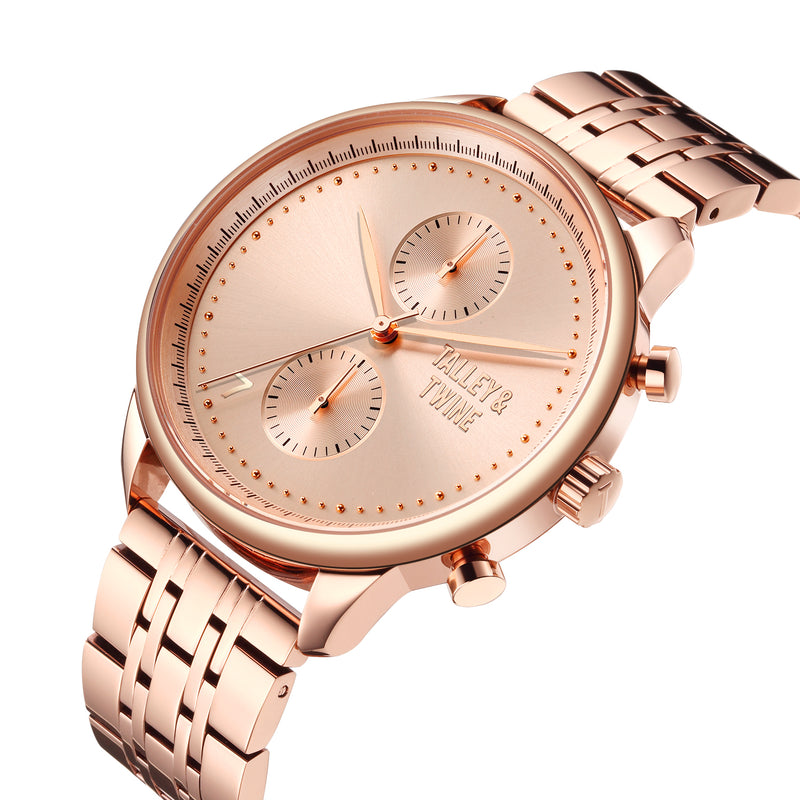 46mm Men's Worley Chronograph M - Rose Gold