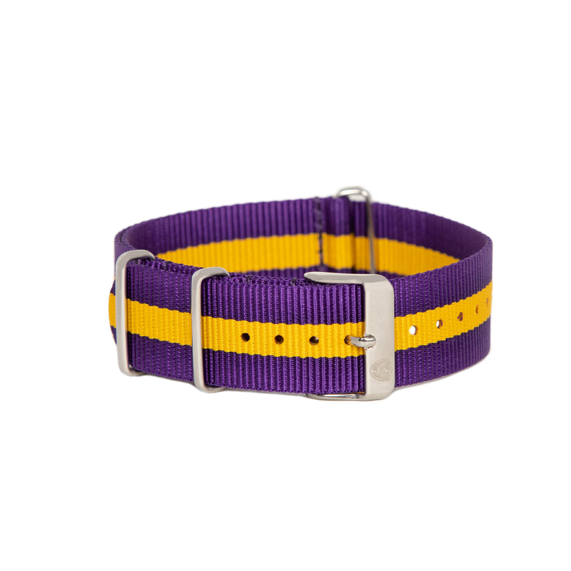 Purple & Gold Canvas Band