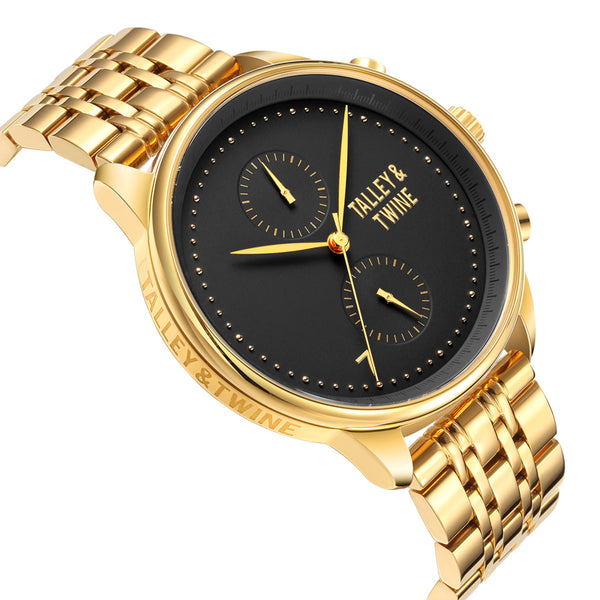 **PRE-ORDER! SHIPPING BY OCTOBER 15TH!** 41mm Women's Worley Chronograph M - Gold & Black