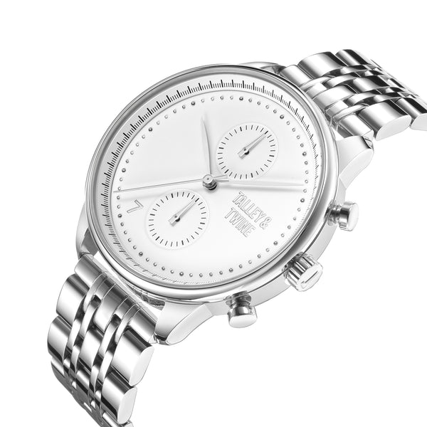 [46mm] Worley Chronograph M - Silver & White
