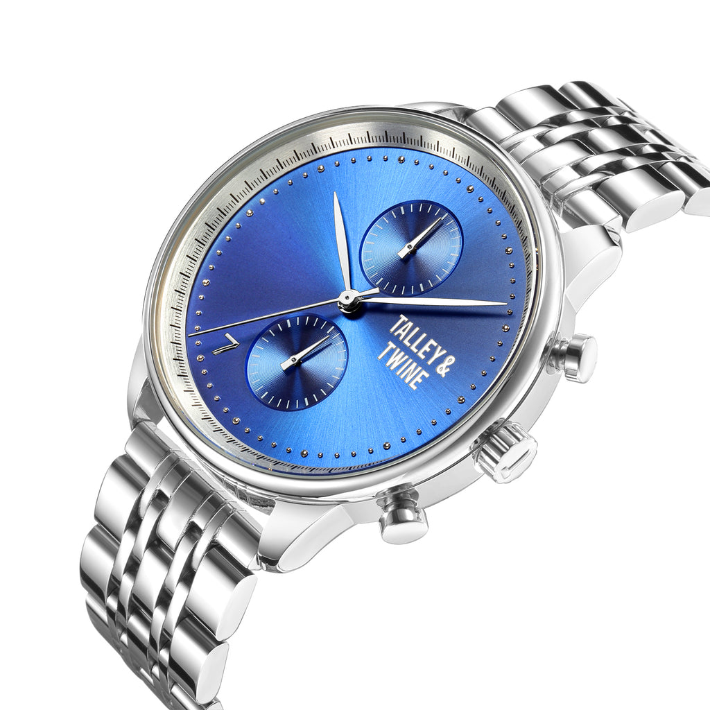 Worley Chronograph M - Silver & Blue