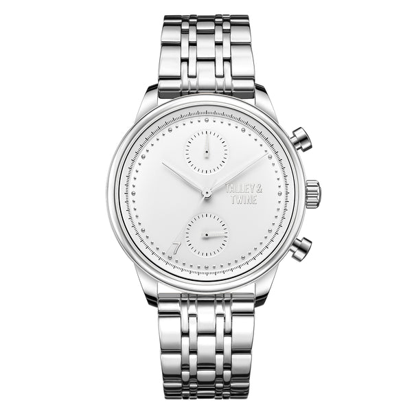 [WOMEN'S] Worley Chronograph - Silver & White [PRE-ORDER ONLY - SHIPS BY OCTOBER 9TH]