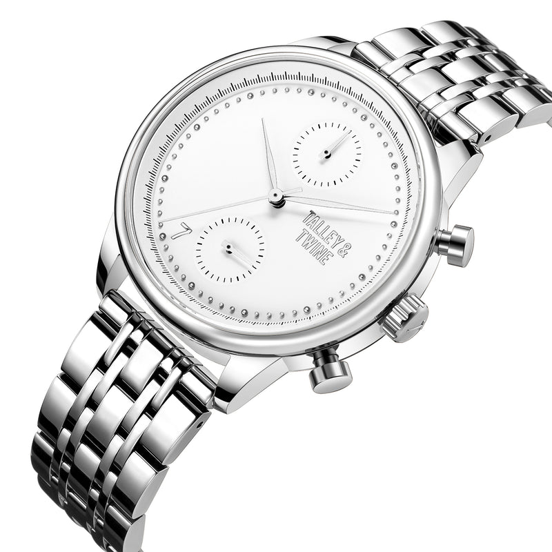 [WOMEN'S 41mm] Worley Chronograph M - Silver & White