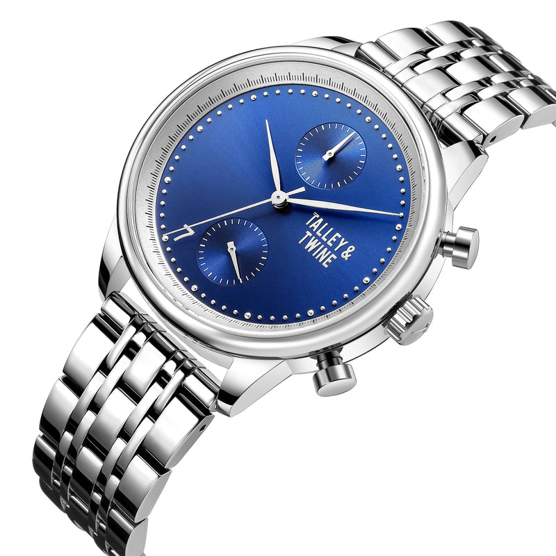 [WOMEN'S 41mm] Worley Chronograph M - Blue & Silver