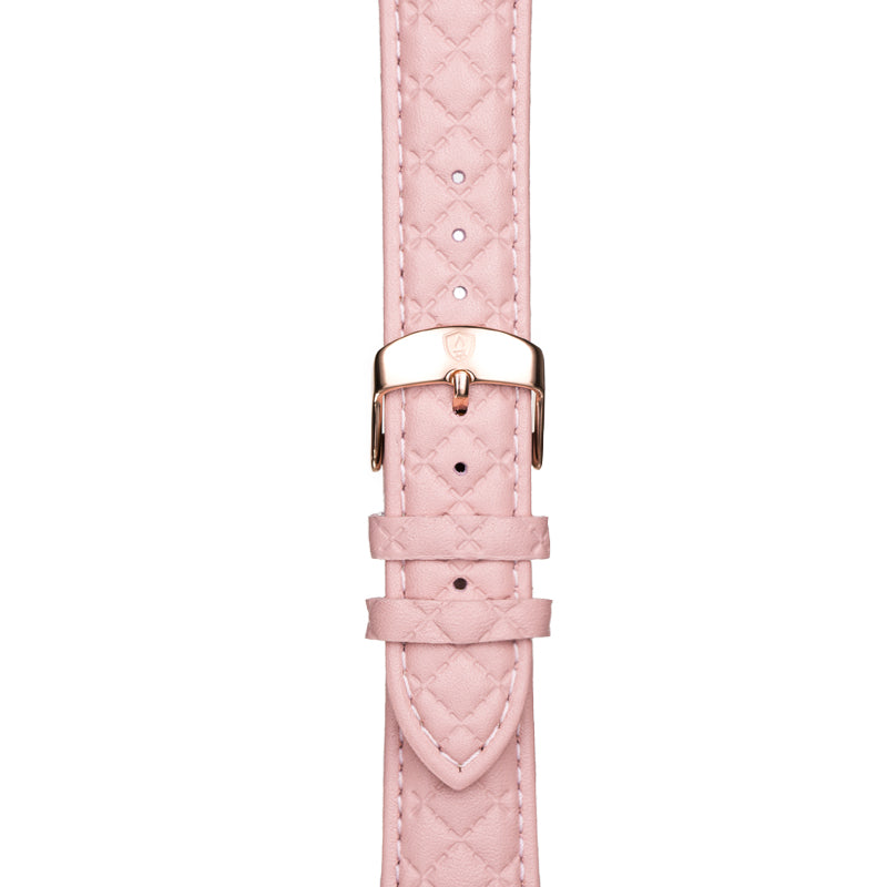 Women's Pink Leather Band w/ Rose Gold Accents