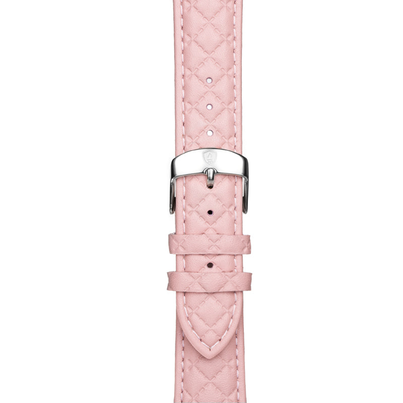 Women's Pink Leather Band w/ Silver Accents