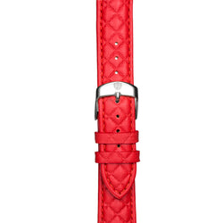 Women's Red Leather Band w/ Silver Accents