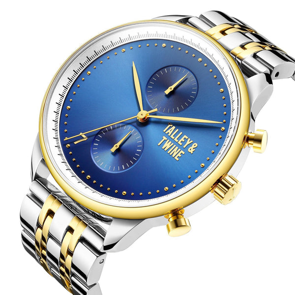 41mm Women's Worley Chronograph M - Silver, Blue & Gold