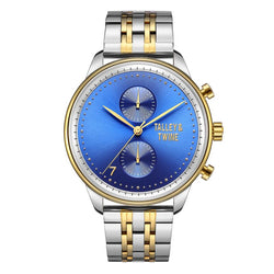 46mm Worley Chronograph M - Silver, Gold & Blue