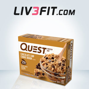 Barritas de proteínas Quest Bar - Chocolate Chip Cookie Dough 60g