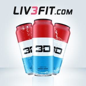 3D ENERGY DRINK RED, WHITE & BLUE - Cyclone 200mg Cafeína