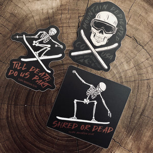 Slope Skeleton Sticker Pack - Slope Mountain Gear