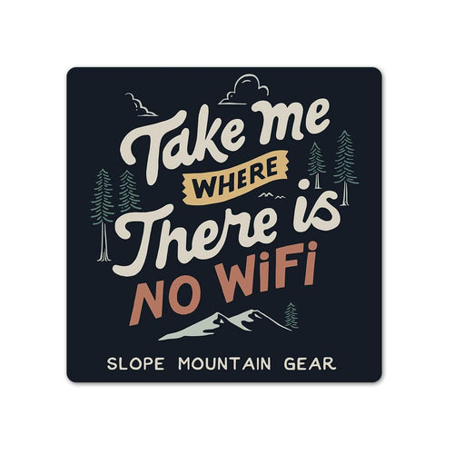 No WiFi Sticker - Slope Mountain Gear