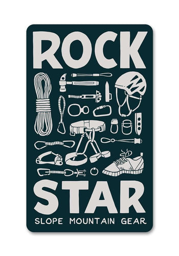 Rock Star Rock Climbing Sticker - Slope Mountain Gear