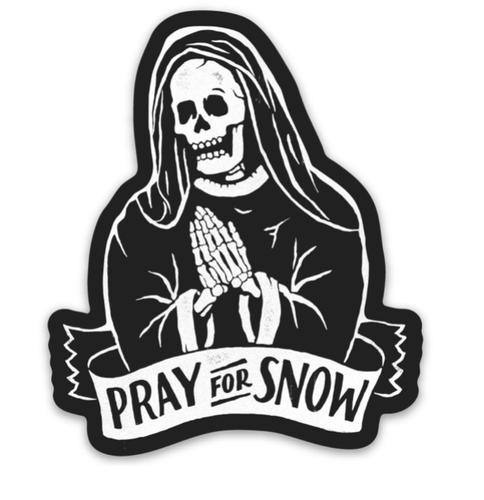 Pray for Snow Sticker - Slope Mountain Gear