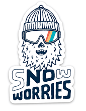 Load image into Gallery viewer, Snow Worries Yeti Sticker - Slope Mountain Gear