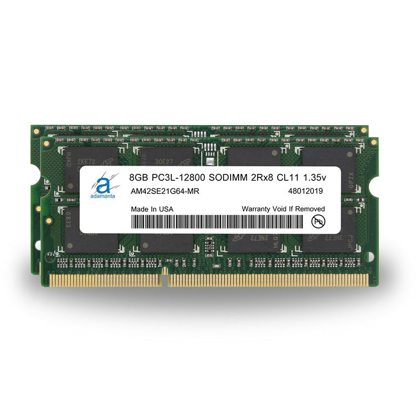 Adamanta 16GB (2x8GB) PC3L-12800 SODIMM 2Rx8 CL11 1.35v for MAC - Adamanta