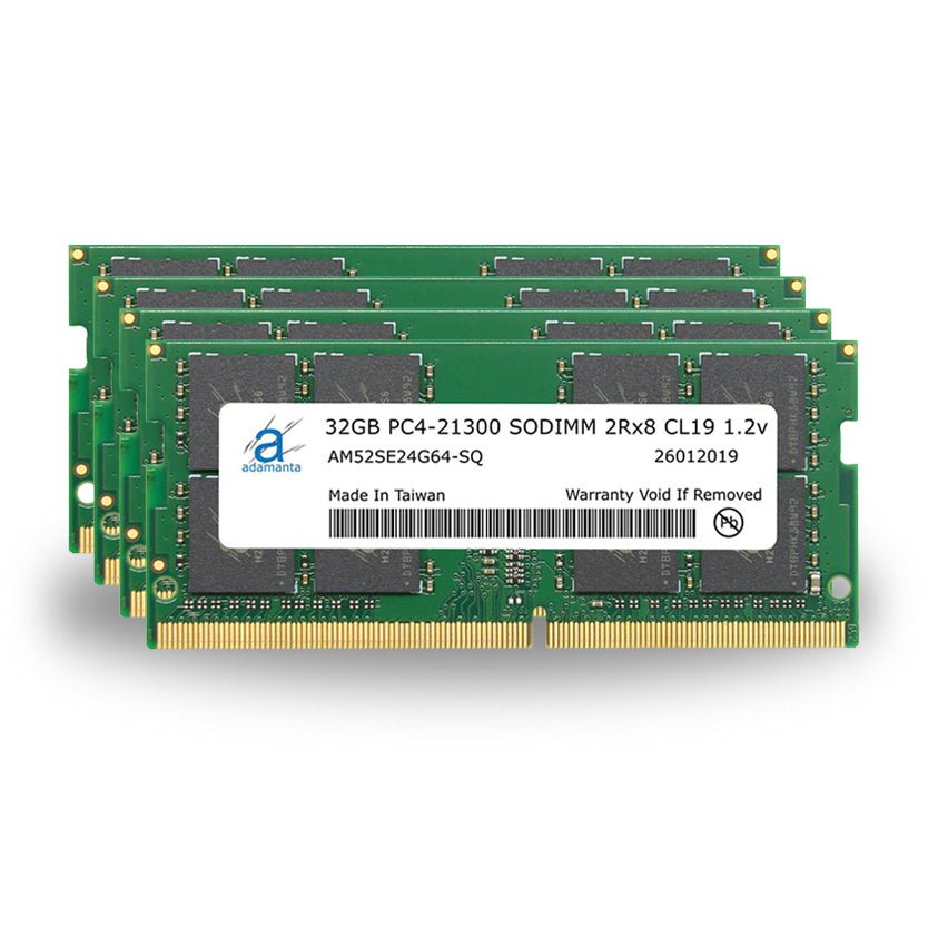 Adamanta 128GB (4x32GB) PC4-21300 SODIMM 2Rx8 CL19 1.2v for 2019 iMac - Adamanta