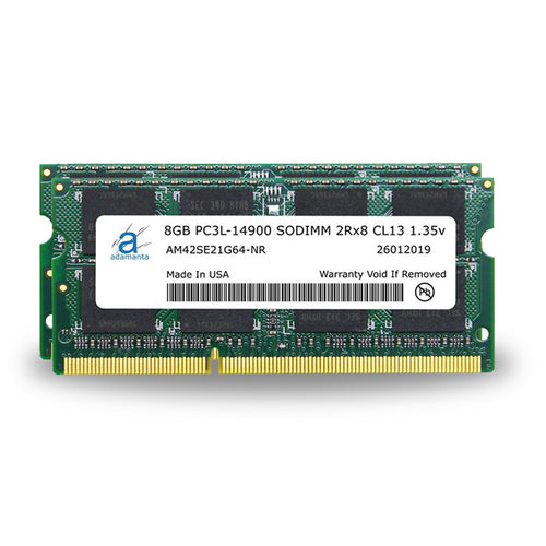 Adamanta 16GB (2x8GB) PC3L-14900 SODIMM 2Rx8 CL13 1.35v for Late 2015 iMac - Adamanta