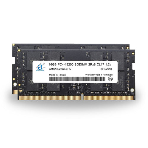 Adamanta 32GB (2x16GB) PC4-19200 SODIMM 2Rx8 CL17 1.2v for 2017 iMac - Adamanta
