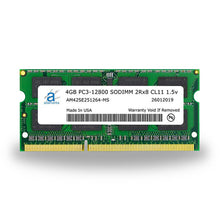 Load image into Gallery viewer, Adamanta 4GB PC3-12800 SODIMM 2Rx8 CL11 1.5v - Adamanta