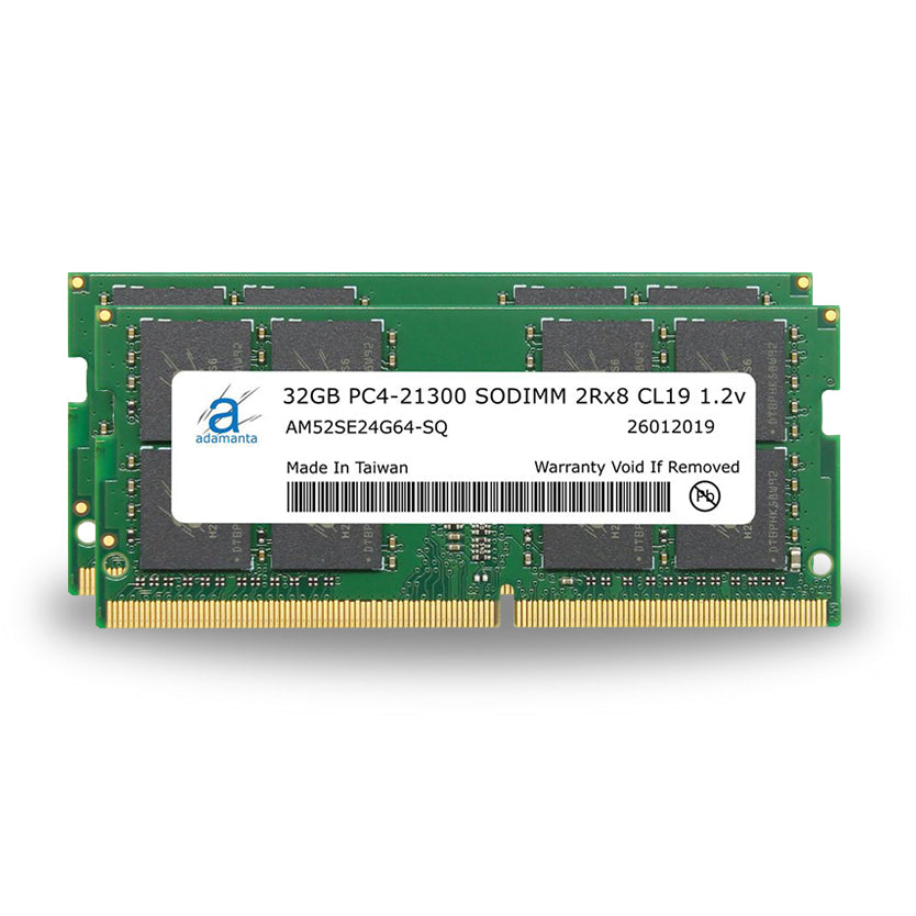 Adamanta 64GB (2x32GB) PC4-21300 SODIMM 2Rx8 CL19 1.2v for 2019 iMac & 2018 Mac Mini - Adamanta