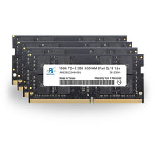 Load image into Gallery viewer, Adamanta 64GB (4x16GB) PC4-21300 SODIMM 2Rx8 CL19 1.2v for 2019 iMac - Adamanta